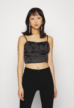 STRAPPY RUCHED CORSET - Top - black