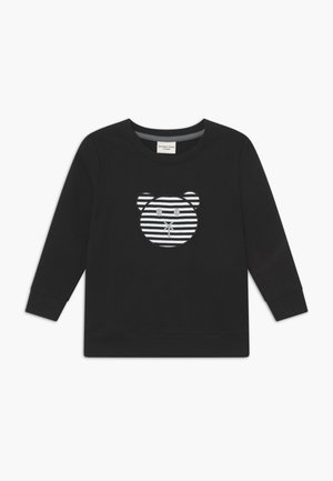 APPLIQUE BEAR - Sweater - black
