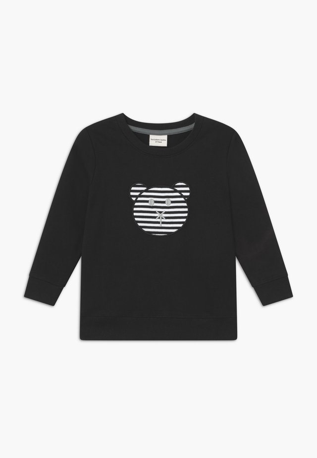 APPLIQUE BEAR - Sweatshirt - black