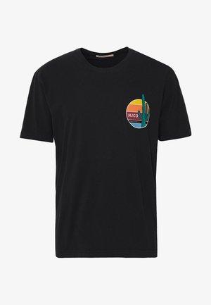 UNO - T-shirt z nadrukiem - black
