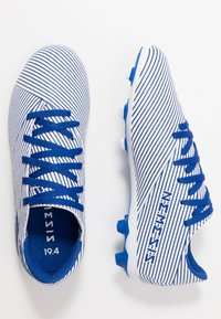 adidas Performance - NEMEZIZ 19.4 FXG - Moulded stud football boots - footwear white/royal blue/core black - 0
