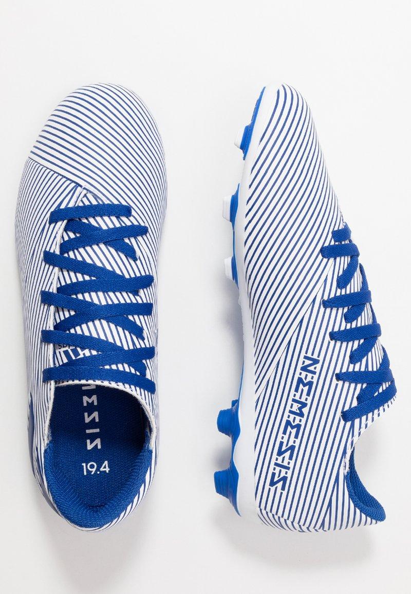 adidas Performance - NEMEZIZ 19.4 FXG - Moulded stud football boots - footwear white/royal blue/core black