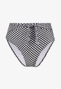 watercult - VINTAGE CHECKS HIGHWAIST BOTTOM - Bikini bottoms - black/offwhite - 4
