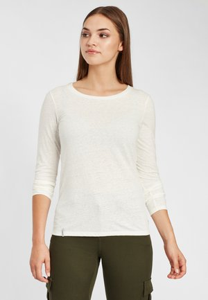 Long sleeved top - powder white