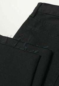 Mango - Jean droit - black denim - 5