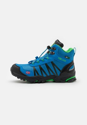KIDS TROLLTUNGA MID UNISEX - Hiking shoes - medium blue/green