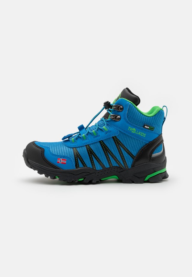 KIDS TROLLTUNGA MID UNISEX - Chaussures de marche - medium blue/green