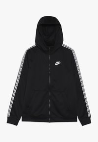 Nike Sportswear - HOODIE TAPED - Trainingsvest - black/white - 0