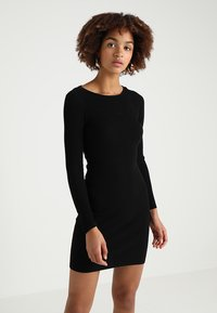 ONLY - ONLNEELA DRESS - Strikket kjole - black - 0