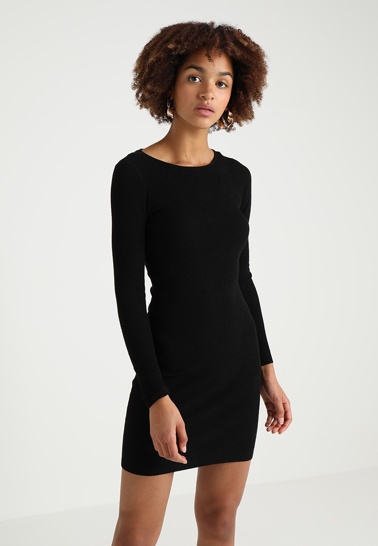ONLY - ONLNEELA DRESS - Strikket kjole - black