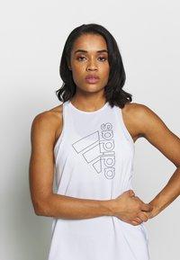 adidas Performance - TECH BOS TANK - Treningsskjorter - white/black - 3