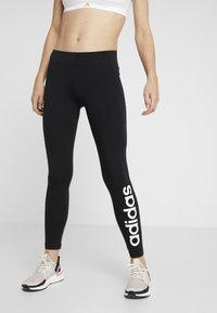 adidas Performance - LIN - Leggings - black/white - 0