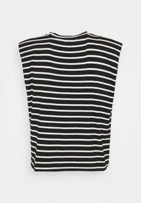NAF NAF - EPAULETTE RAYE - Print T-shirt - noir/ecru - 1