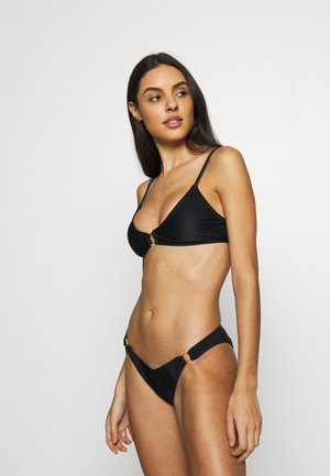 RING SCOOP BRALETTE SET - Bikiny - black