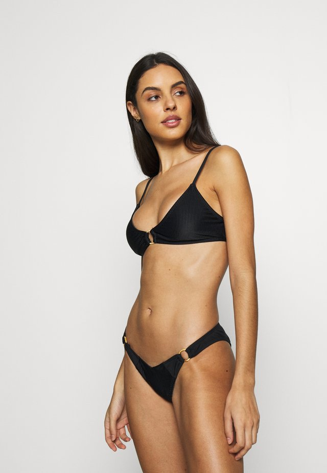 RING SCOOP BRALETTE SET - Bikinit - black