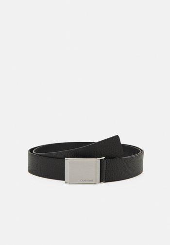 BEVELED PLAQUE - Belt - black
