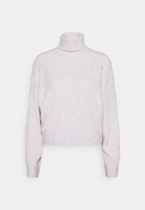 AGGIE TURTLENECK - Strikkegenser - dusty light pink melange