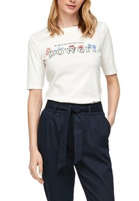 s.Oliver - Print T-shirt - offwhite power print - 5