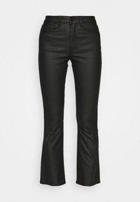 OBJWANDA BELLE COATED KICK - Trousers - black