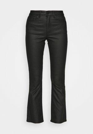 OBJWANDA BELLE COATED KICK - Kalhoty - black