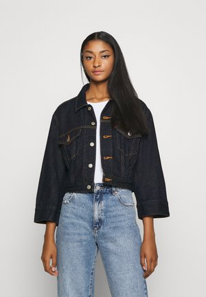 LOOSE SLEEVE TRUCKER - Denim jacket - dark indigo