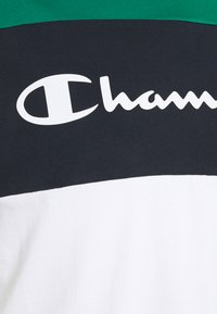 Champion - CREWNECK - T-shirt med print - green/white/navy - 7