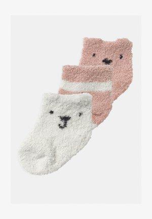 COZY 3 PACK UNISEX - Sokken - chalk pink