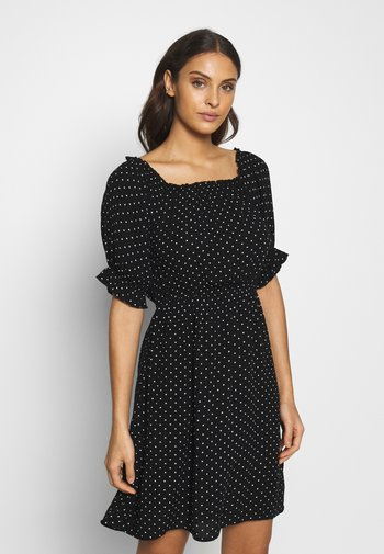SPOT BARDOT DRESS