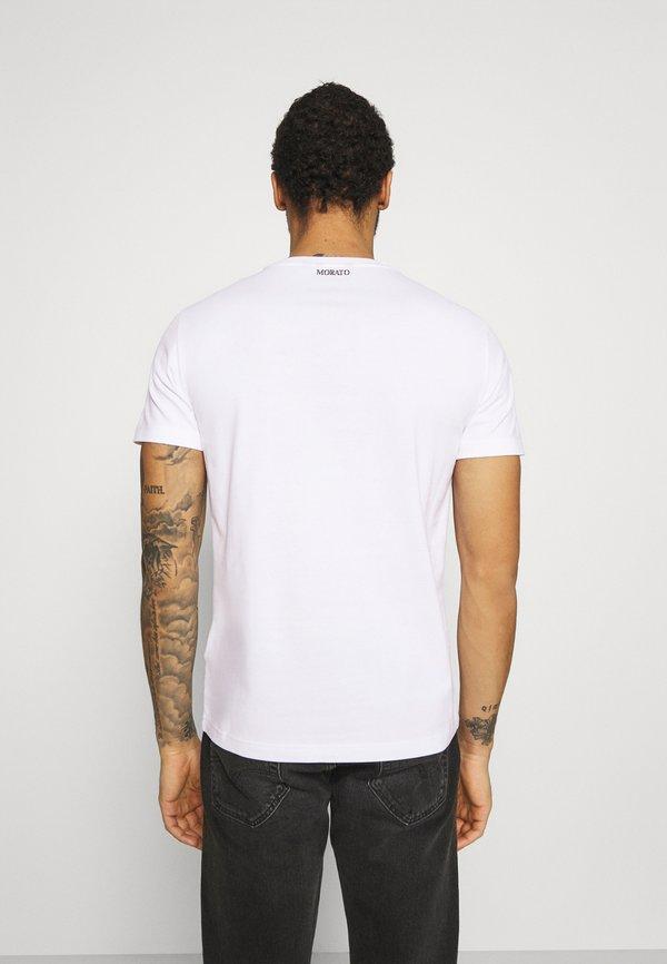 Antony Morato SLIM FIT WITH DOUBLE LAYER - T-shirt z nadrukiem - bianco/biały Odzież Męska VAZU