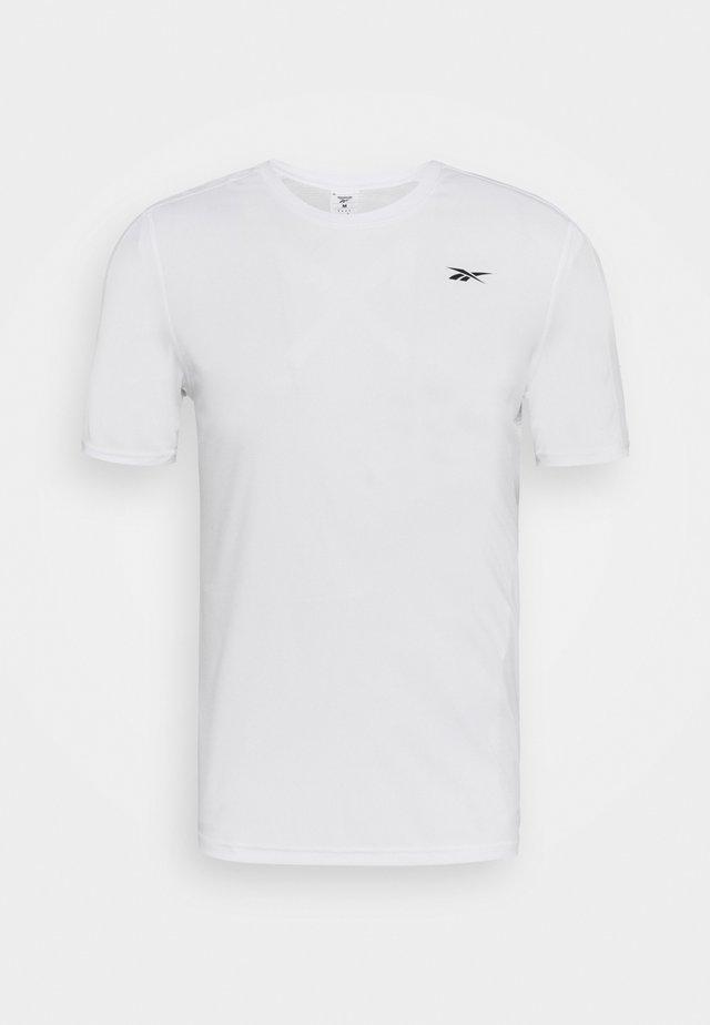 TECH TEE - T-shirt con stampa - white
