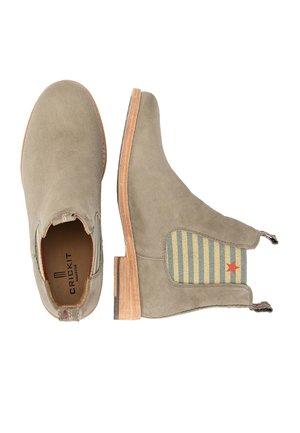 CHELSEA BOOT JULE MIT STREIFEN UND STERNCHEN - Classic ankle boots - taupe
