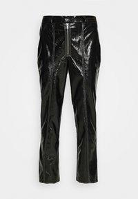 NA-KD - CONTRAST SEAM PANTS - Trousers - black - 5