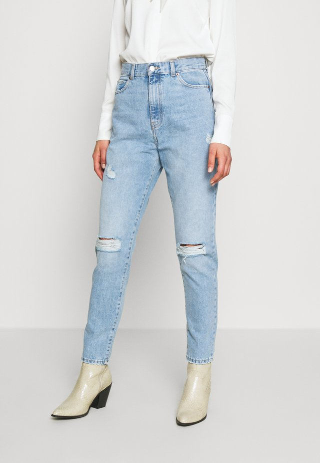 NORA MOM - Jeans baggy - destiny blue ripped
