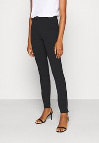 Selected Femme Tall - SLFILUE PINTUCK PANT  - Bukse - black - 0