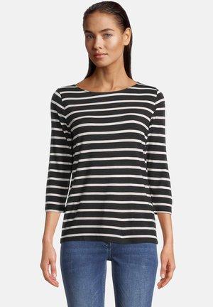 MIT STREIFEN - Long sleeved top - schwarz/grau
