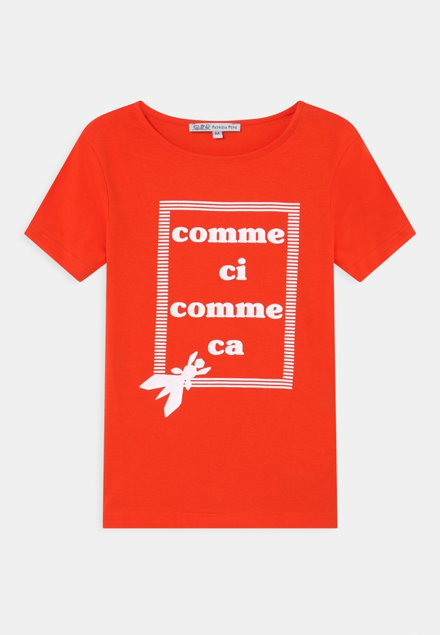 COMME SI COMME SA - Print T-shirt - red