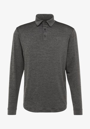 UA LONG SLEEVE PLAYOFF 2.0 POLO - Sports shirt - black/pitch gray