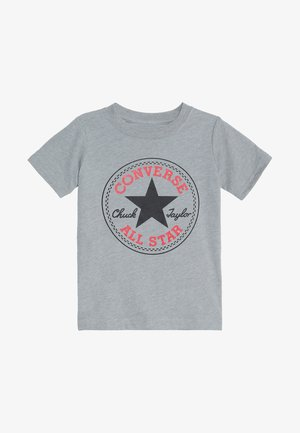 CORE CHUCK PATCH TEE  - T-shirt z nadrukiem - dark grey heather