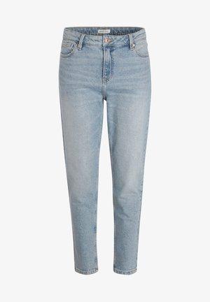 GEWASCHENE MOM JEANS - Jeans Tapered Fit - denim double stone