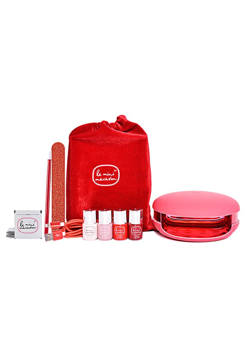 Le Mini Macaron - LE MAXI ROUGE & MOI LIMITED EDITION DELUXE GEL MANICURE SET - Nail set - mix of reds