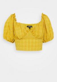 MILKMAID CROP - Bluse - mustard