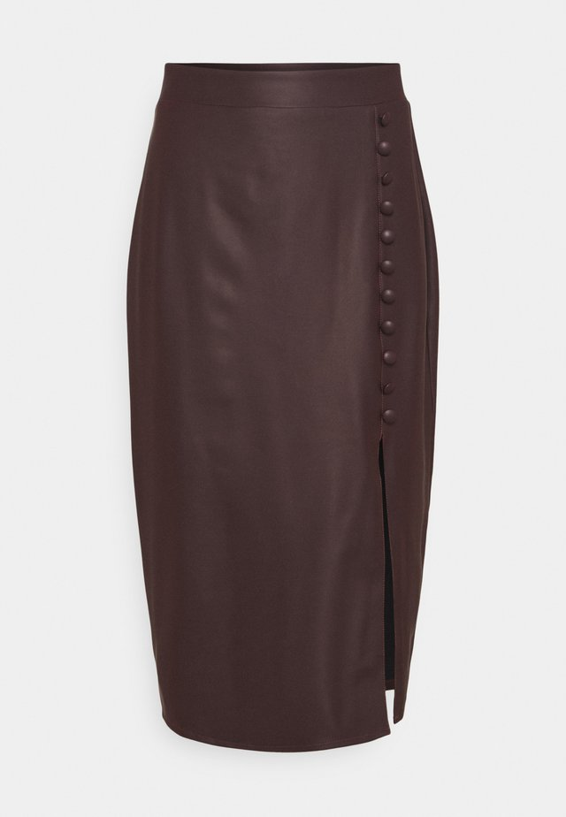 SKIRT - Gonna a tubino - brown
