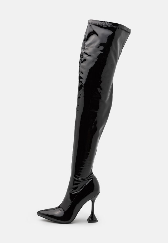 LUSH - Kozaki na obcasie - black