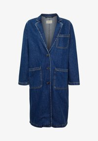 Classic coat - dark blue denim