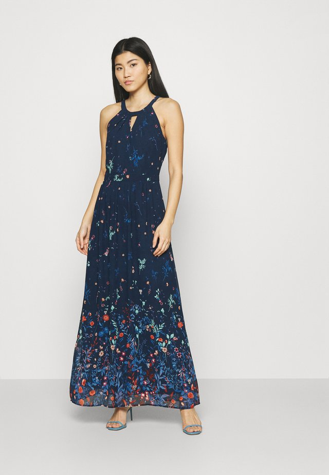 PRINT FLOWER - Długa sukienka - navy