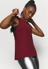 Nike Performance - DRY ELASTIKA TANK - Camiseta de deporte - dark beetroot/beyond pink - 3