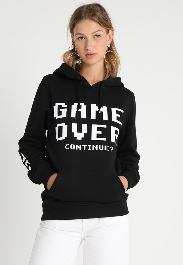 GAME OVER HOODY - Hoodie - black