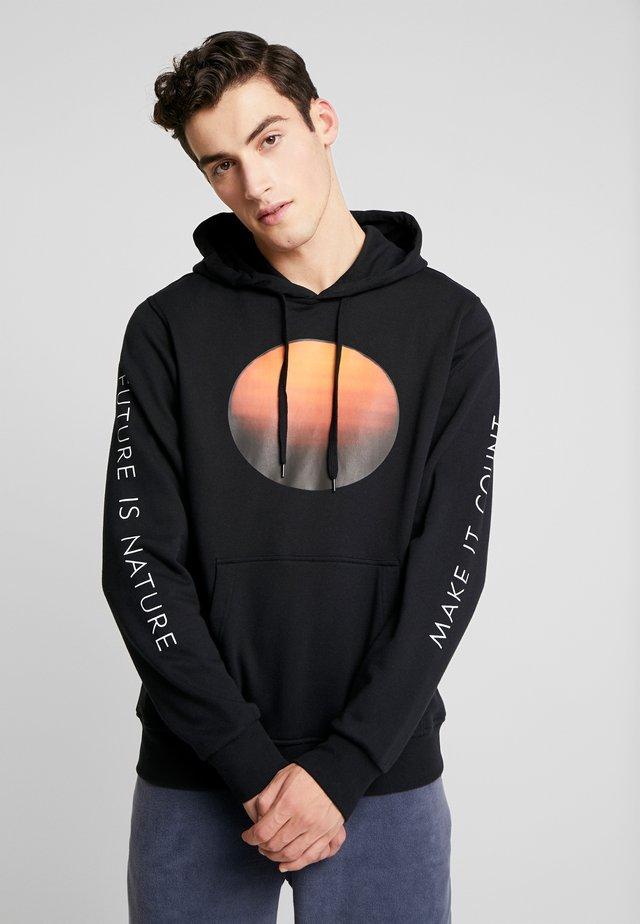 NATIONAL GEOGRAPHIC  SUN FLEECE  - Hoodie - flint black