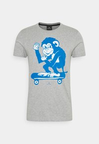 MENS SLIM FIT SKATE MONKEY - Print T-shirt - grey