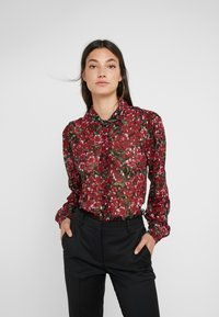 The Kooples - Button-down blouse - burgundy - 0